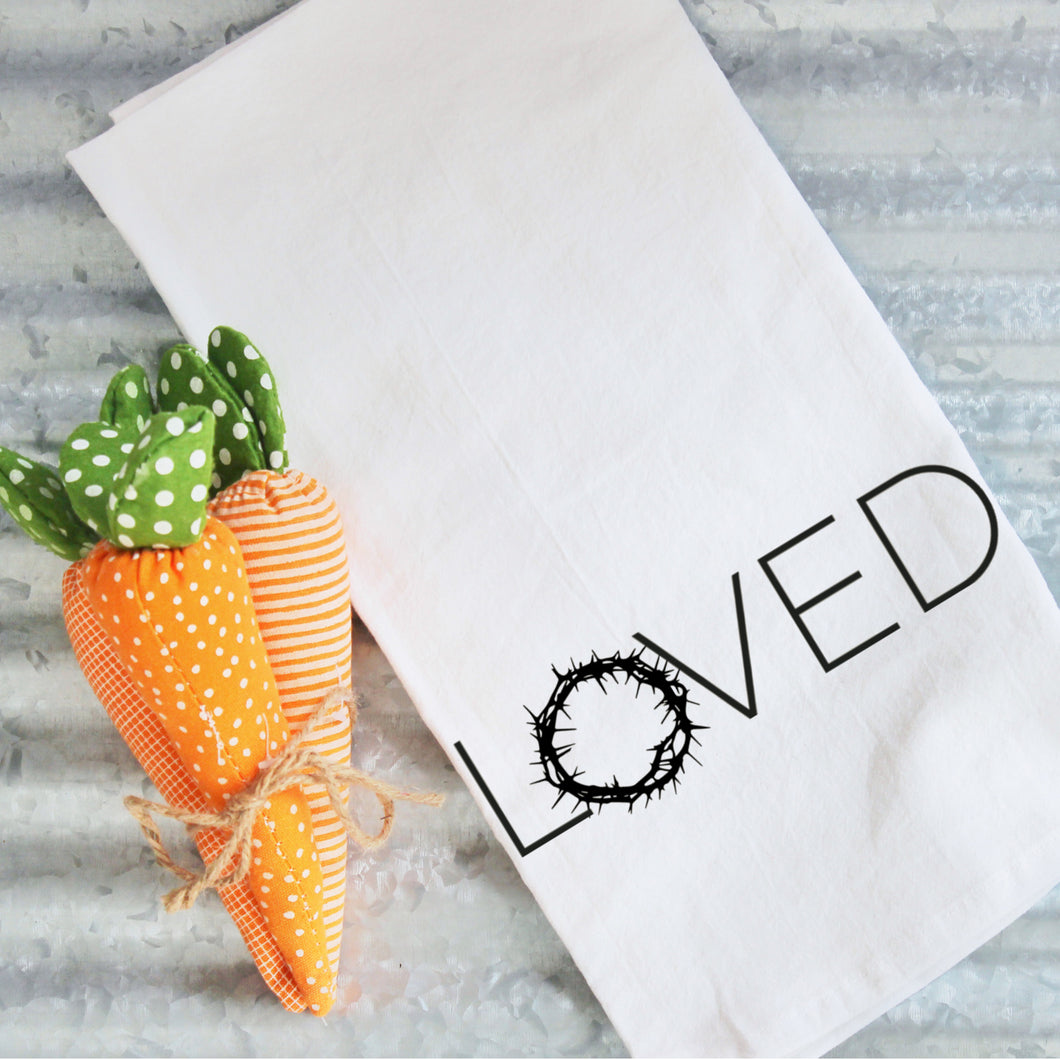 Tea Towels- Loved, Graphic Tea Towels