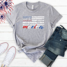 4th of July Graphic T_Shirt! MERICA....distressed flag.