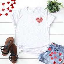 Mini Red Damask Heart-Plus Sizes