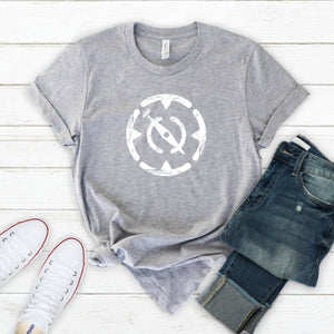 Distressed White Compass-Plus Sizes