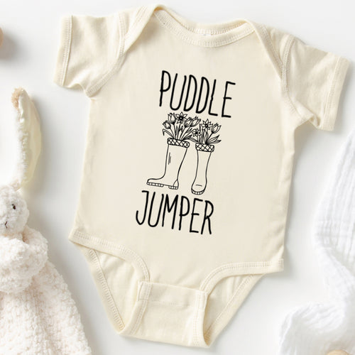 Puddle Jumper with Flowers Onesie