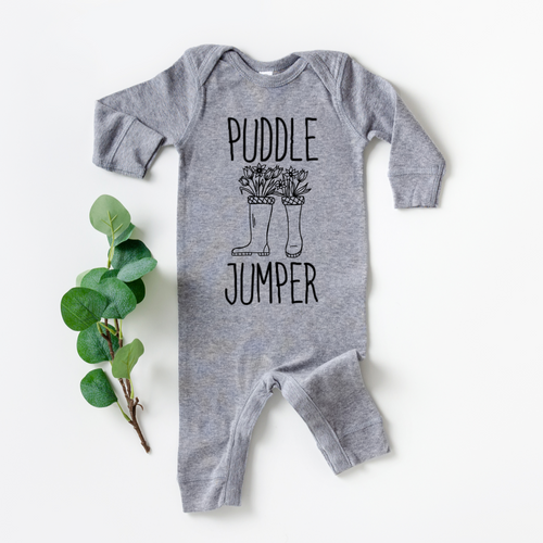 Puddle Jumper with Flowers Coverall