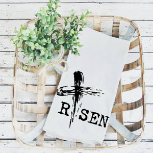 Tea Towels- Risen, Graphic Tea Towels