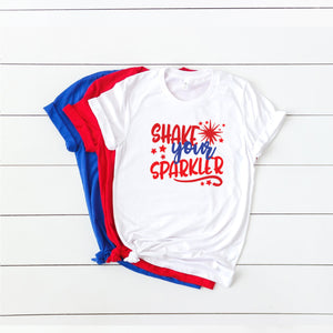 4th of July Graphic T_Shirt! Shake Your Sparkler!