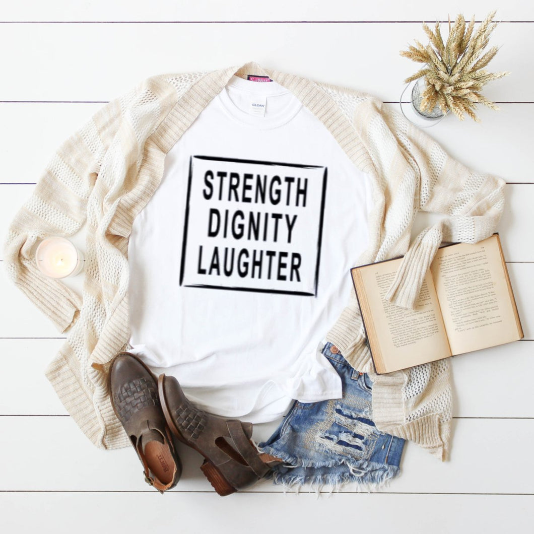 Strength Dignity Laughter-Plus Sizes