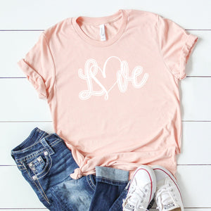 Swirly White Love-Plus Sizes