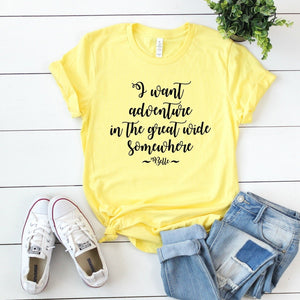I Want Adventure In The Great Wide Somewhere-Plus Sizes