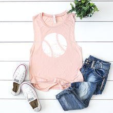 Distressed Baseball- Muscle Tank Top