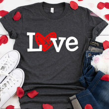 White Love With Red Heart-Plus Sizes