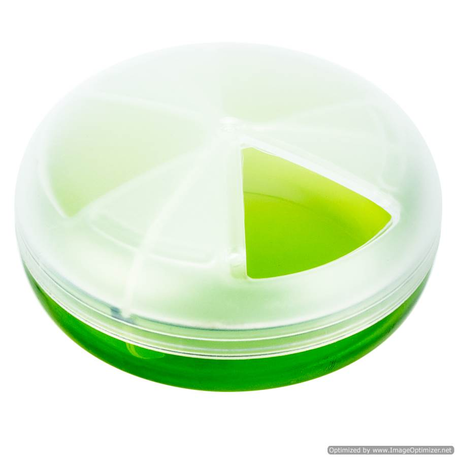 ROUND PLASTIC PILL DISPENSER