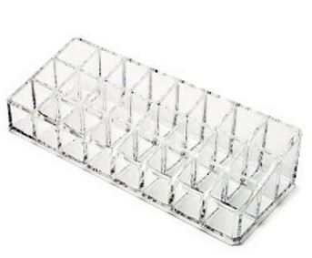 CLEAR ACRYLIC 24 SPACES LIPSTICK HOLDER