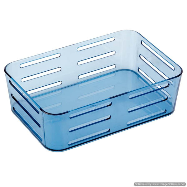 SUCTION CUP GREY RECTANGULAR BASKET