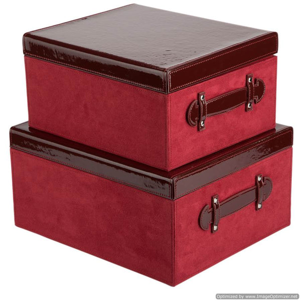 SET OF 2 BOXES - CHERRY RED
