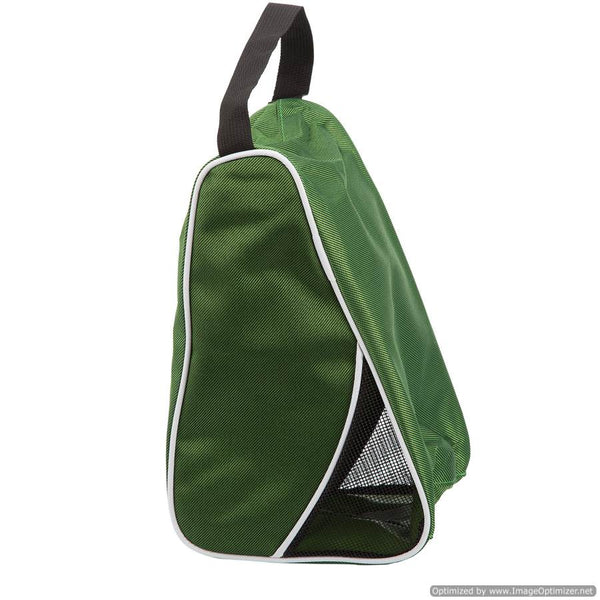 GREEN TRAVEL/SPORT SHOE BAG - L-SHAPED