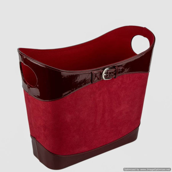MAGAZINE BASKET - CHERRY RED