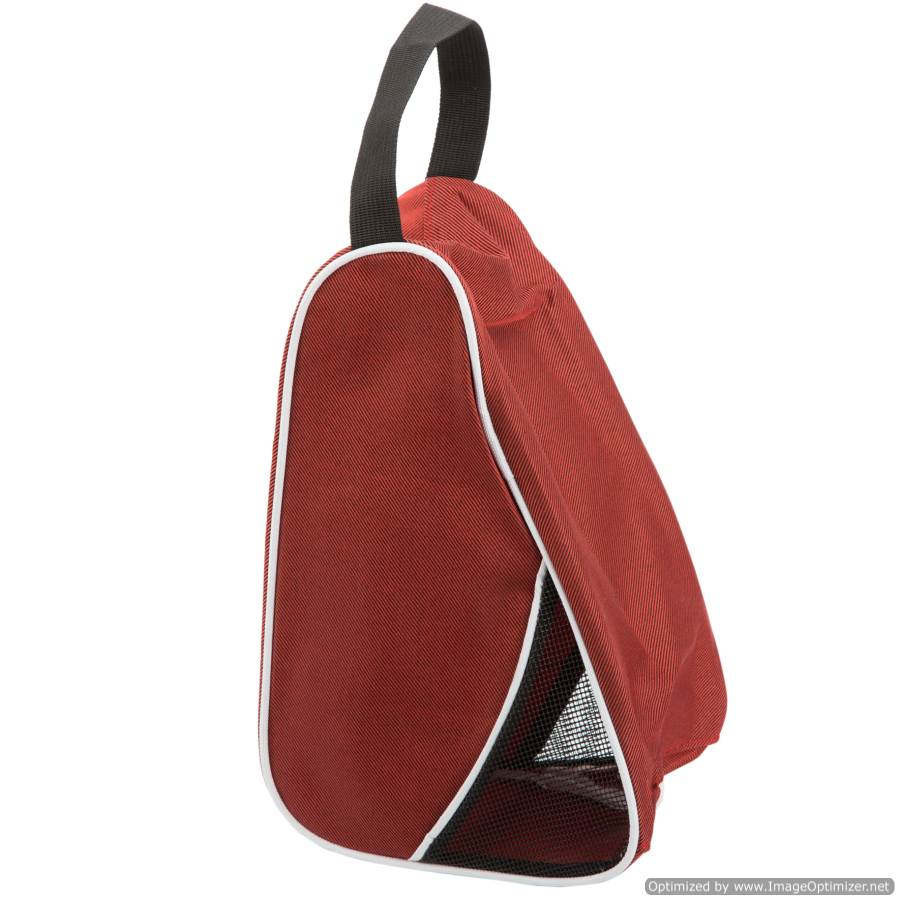 RED TRAVEL/SPORT SHOE BAG - L-SHAPED