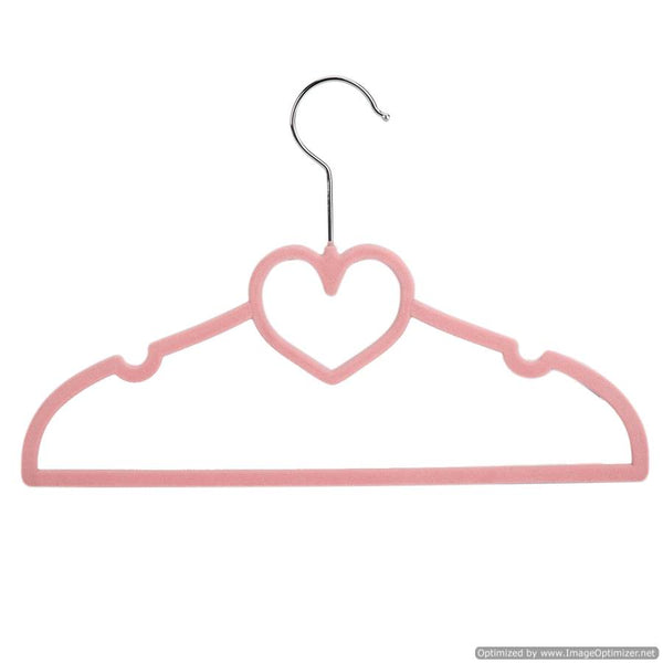 KIDS HANGER SET- PINK HEART