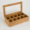WOODEN TEA BAGS BOX