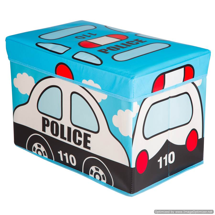 KIDS POLICE CAR TOY BOX
