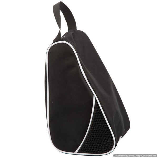 BLACK TRAVEL/SPORT SHOE BAG BLACK - L-SHAPED