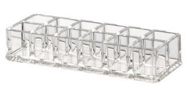 12 SPACES CLEAR ACRYLIC LIPSTICK HOLDER