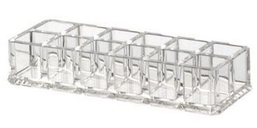 CLEAR ACRYLIC 12 SPACES LIPSTICK HOLDER