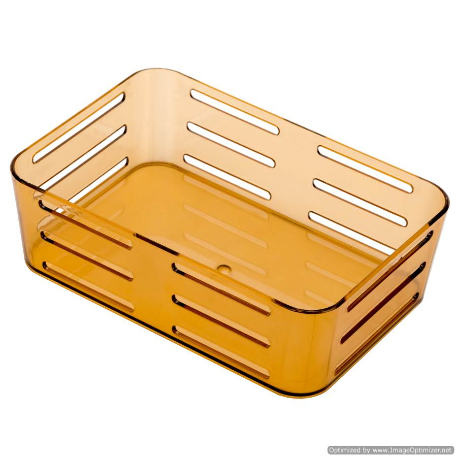SUCTION CUP BROWN RECTANGULAR BASKET