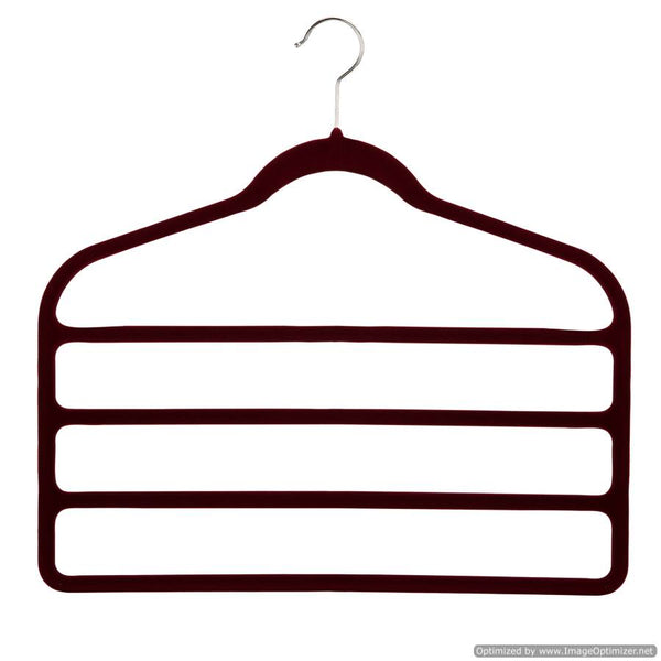 4 PAIR TROUSERS HANGER - BLACK