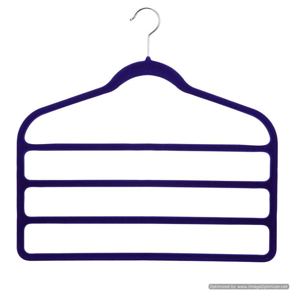 4 PAIR TROUSERS HANGER - BLUE