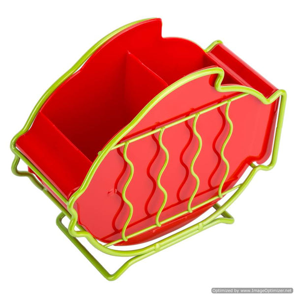 FISH SHAPE CUTLERY HOLDER - RED