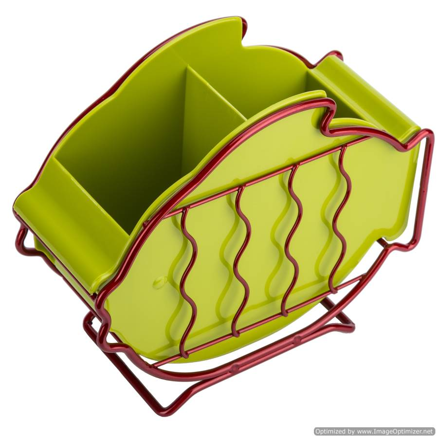 FISH SHAPE CUTLERY HOLDER - GREEN