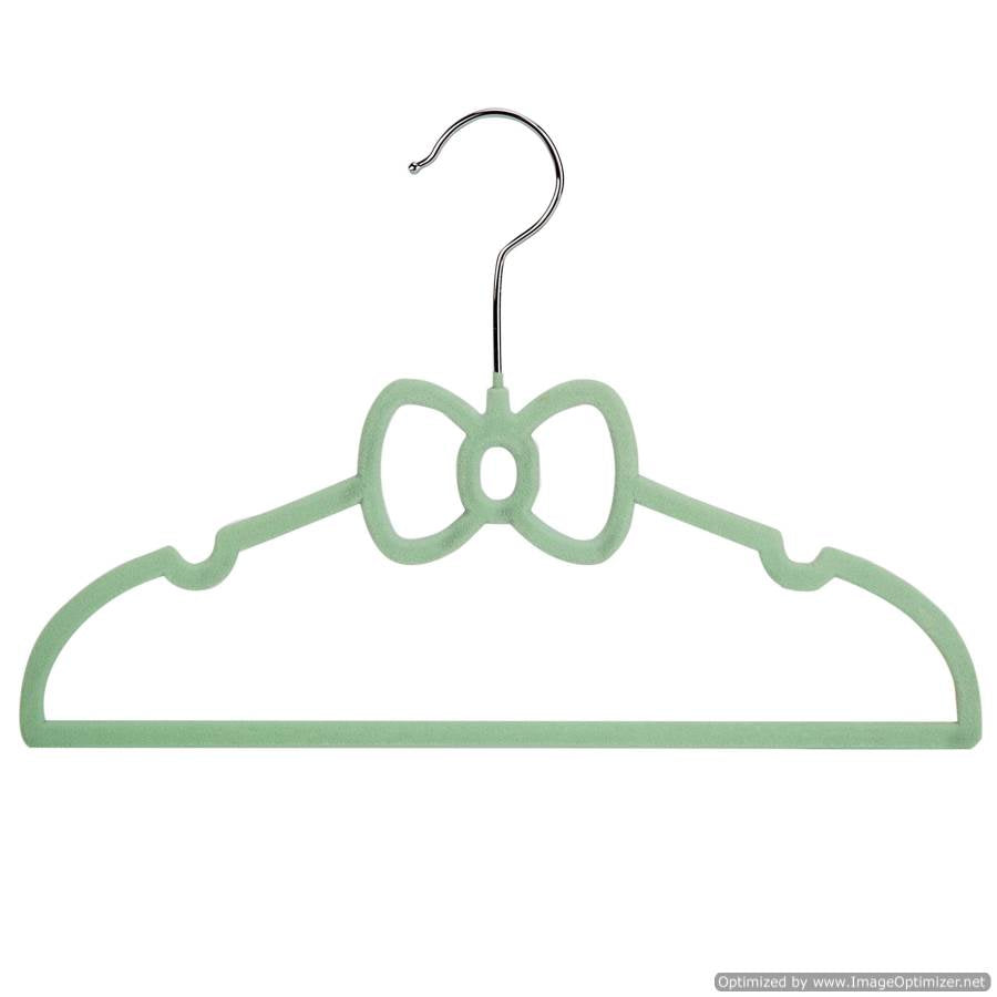 KIDS HANGER SET- GREEN RIBBON, 10 pack