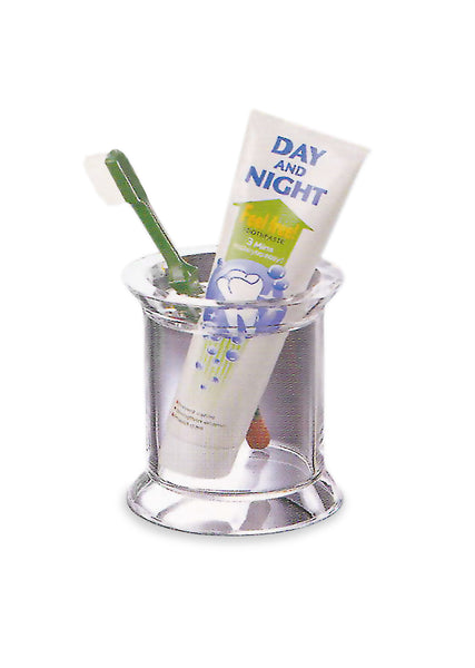 CLEAR ACRYLIC TOOTHBRUSH HOLDER