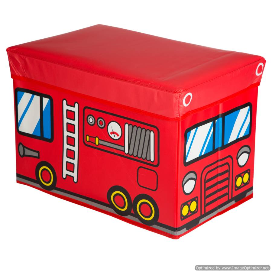 KIDS FIRE TRUCK TOY BOX