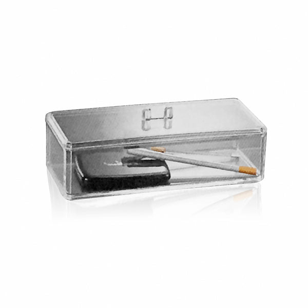 CLEAR ACRYLIC MINI TOOLS HOLDER WITH LID