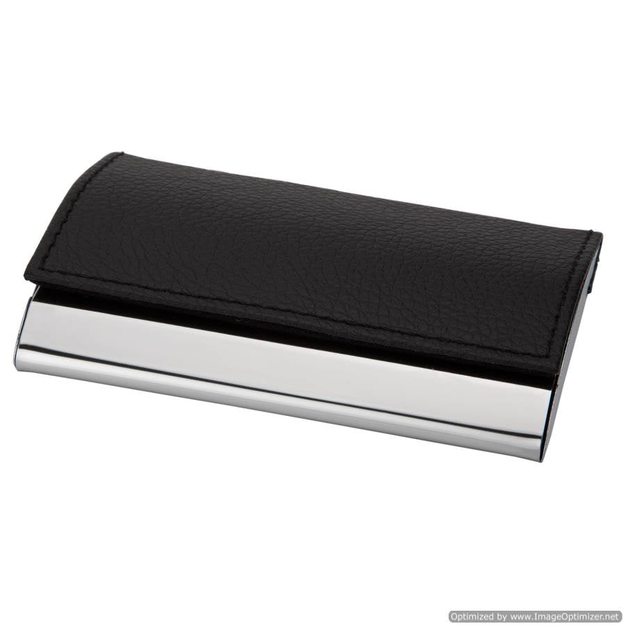 BLACK VISITING CARD HOLDER (HORIZONTAL)