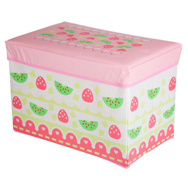 KIDS TOY BOX - PINK WITH FRUIT