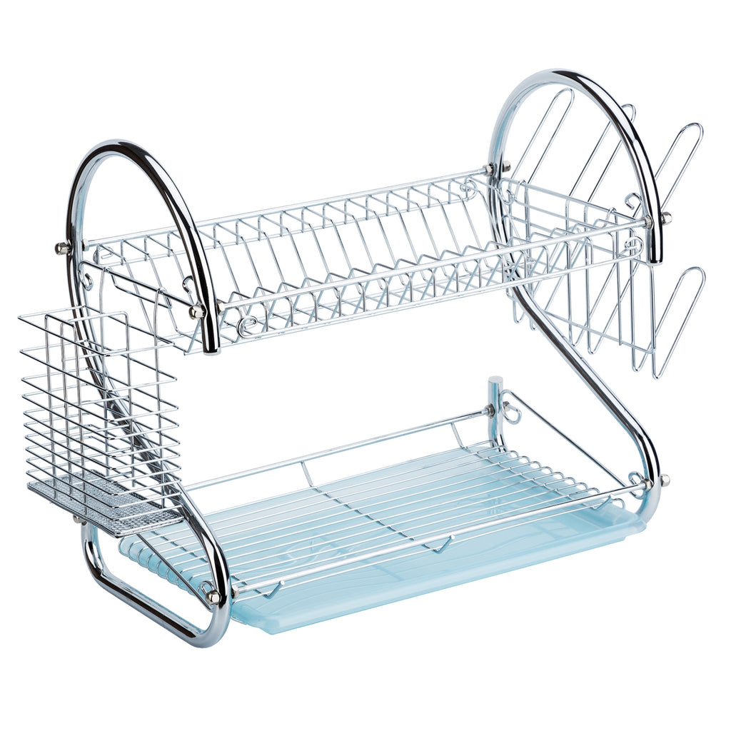 CURVED IRON DISH RACK DRAINER