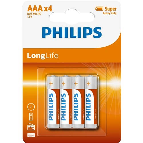 AAA Batteries Philips 4 Pack