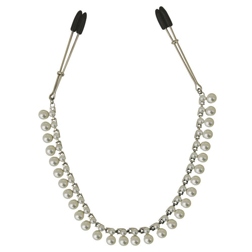 BDSM Nipple Clips Pearl Chain