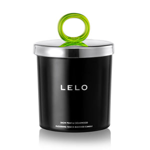 Lelo Snow Pear And Cedarwood Flickering Touch Massage Candle Self & More