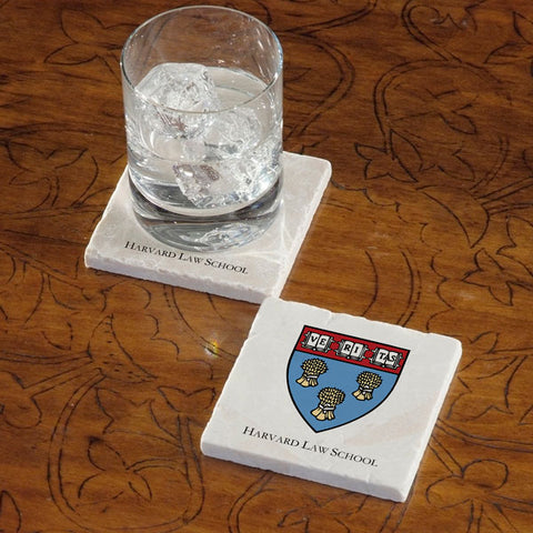 Harvard University Law School Marble Coaster - Single