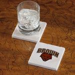 Brown University Bear Marble Coaster - Single