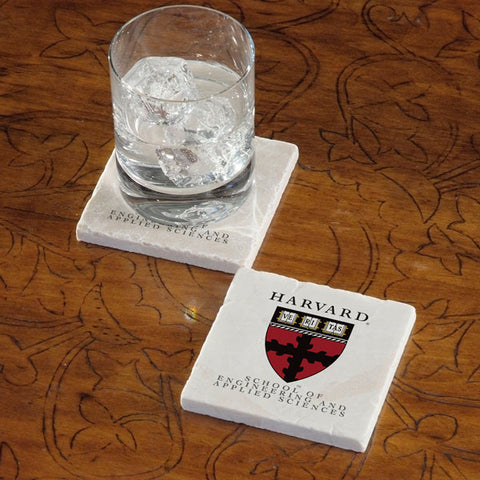 Harvard University School of Engineering and Applied Science Marble Coaster - Single
