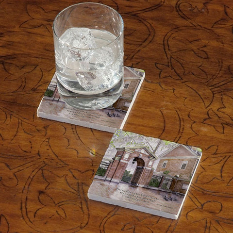 Harvard University Gate Marble Coaster - Single