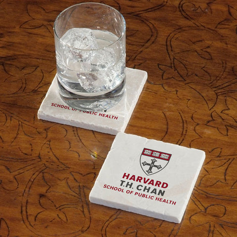 Harvard University Chan School of Public Health Marble Coaster - Single