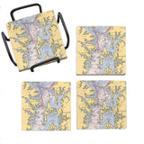 Chesapeake Bay Marble Coaster Set