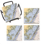 Beach Haven, NJ  Marble Coaster Set