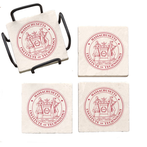 Massachusetts Institute of Technology Marble Coaster Set