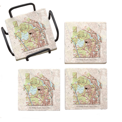 NEW! Home is Where the Heart Is - Marble Coasters